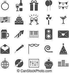 Celebration icons on white background