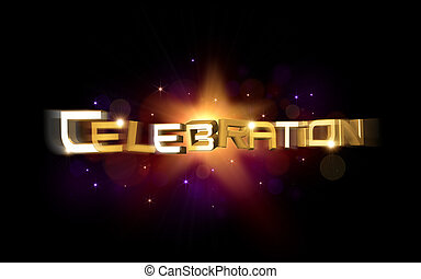celebration illustration - 3d rendered illustration of...