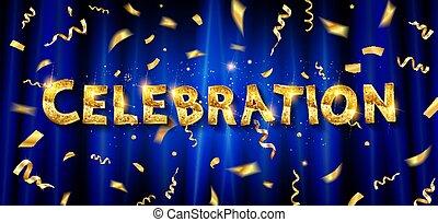 Celebration invitation vector card