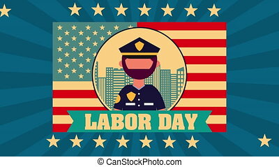 celebration labor day with pilot animation