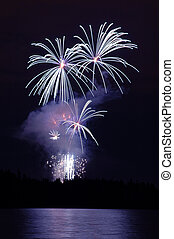 Celebration of light fireworks display over Stanley Park in...