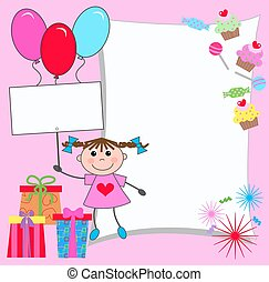 celebration or invitation card for girls