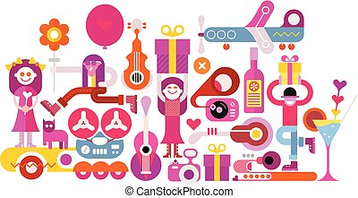 Celebration party vector illustration