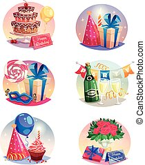Celebration Set Of Isolated Air Balloons