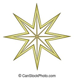 Abstract Vintage Ornamental Christmas Star Element Vector Design