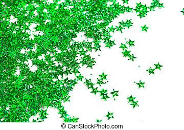 celebration stars on white background