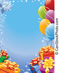 Celebration - Balloons decoration ready for birthday and...