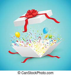 Celebration Surprise Gift - illustration of confetti and...