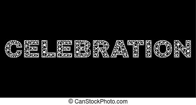 CELEBRATION Text in Polygonal Mesh Style