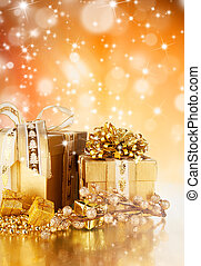 Celebration theme with christmas gifts