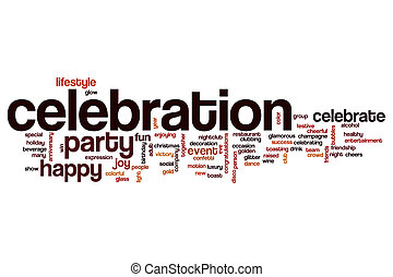 Celebration word cloud concept