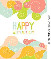 Celebratory Australia Day background