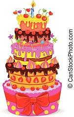 Celebratory cake - Celebratory beautiful cake with fruits,...