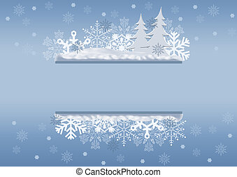 Celebratory Christmas border, with place for your text. Grey...
