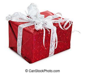 Celebratory gift isolated on white