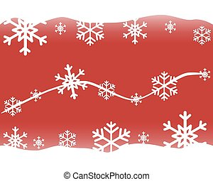 Celebratory New Year's and Christmas red background