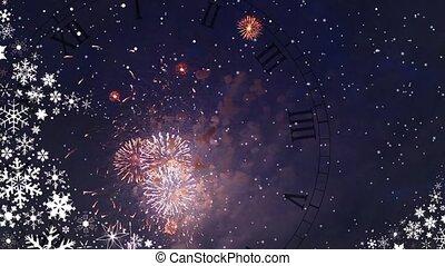 New Year's celebratory firework loop ready File