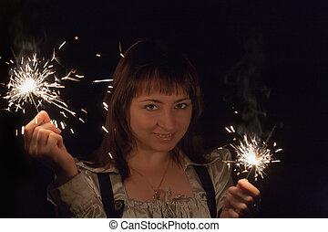 celebratory portrait of a girl