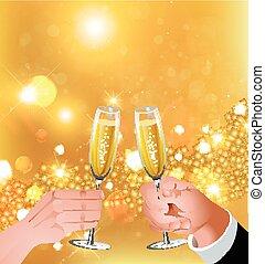 celebratory toast