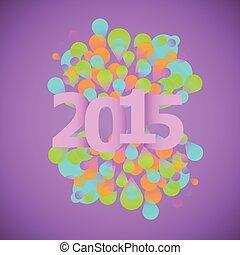 celebrazione, 2015, concetto, su, viola, fondo