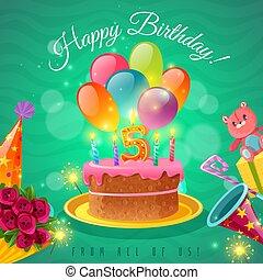 celebrazione, compleanno, manifesto