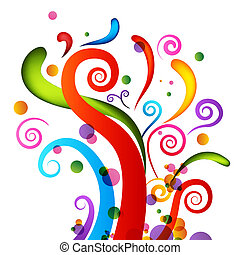 celebrazione, coriandoli, elementi