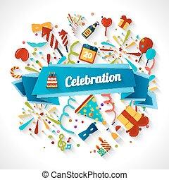 celebrazione, fondo, illustrazione