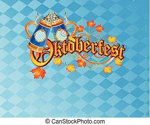 celebrazione, fondo, oktoberfest