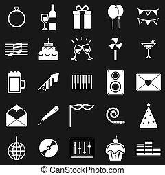 celebrazione, icone, su, sfondo nero