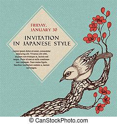 celebrazione, invito, in, giapponese, stile