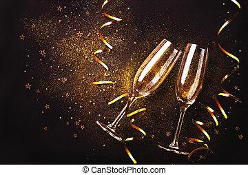 celebrazione, pane tostato champagne