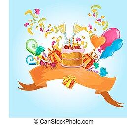 celebrazione, sfondo colorato