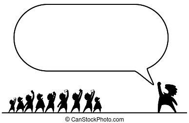 celebrità, discorso, vuoto