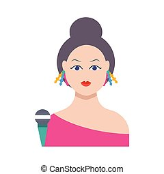 celebrity  flat color icon