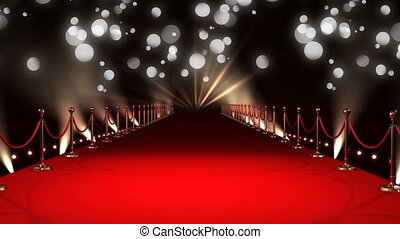 Celebrity red carpet walkway - Digital animation of a red ...
