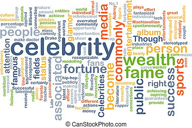 celebrity wordcloud concept illustration