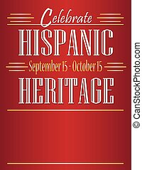 celebrovat, hispánský, dědictví, měsíc