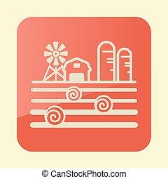 celeiro, paisagem, granary, fazenda, palheiro