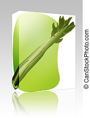 Celery illustration box package