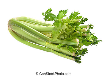 Celery isolated on a white background.
