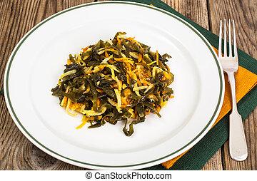 Celery salad with seaweed