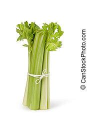 Celery - stump of celery isolated on white background