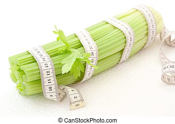 Celery with tape measure