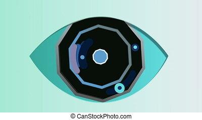 """celeste, achthoekig, oog, """"abstract, background"""""""