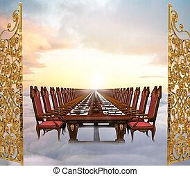 celestial, banquete