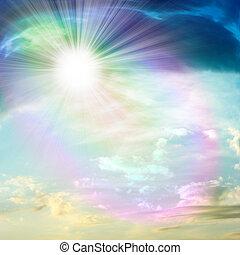 celestial landscape - abstract scene beautiful solar sky
