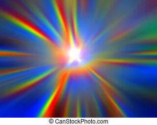 Celestial Light - Shining and bright divine light.
