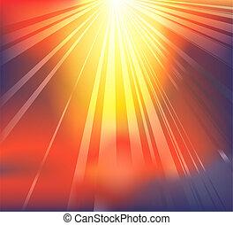 celestial, luz, plano de fondo