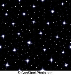 Celestial seamless background with sparkling stars