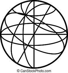 Celestial sphere icon